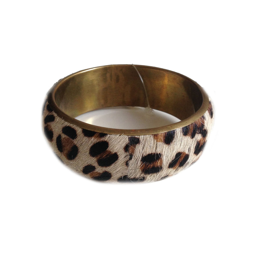 Slim Bangle Leopard - Stone