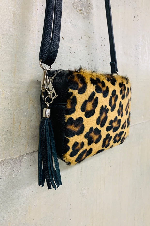 Box Bag Leopard Leather