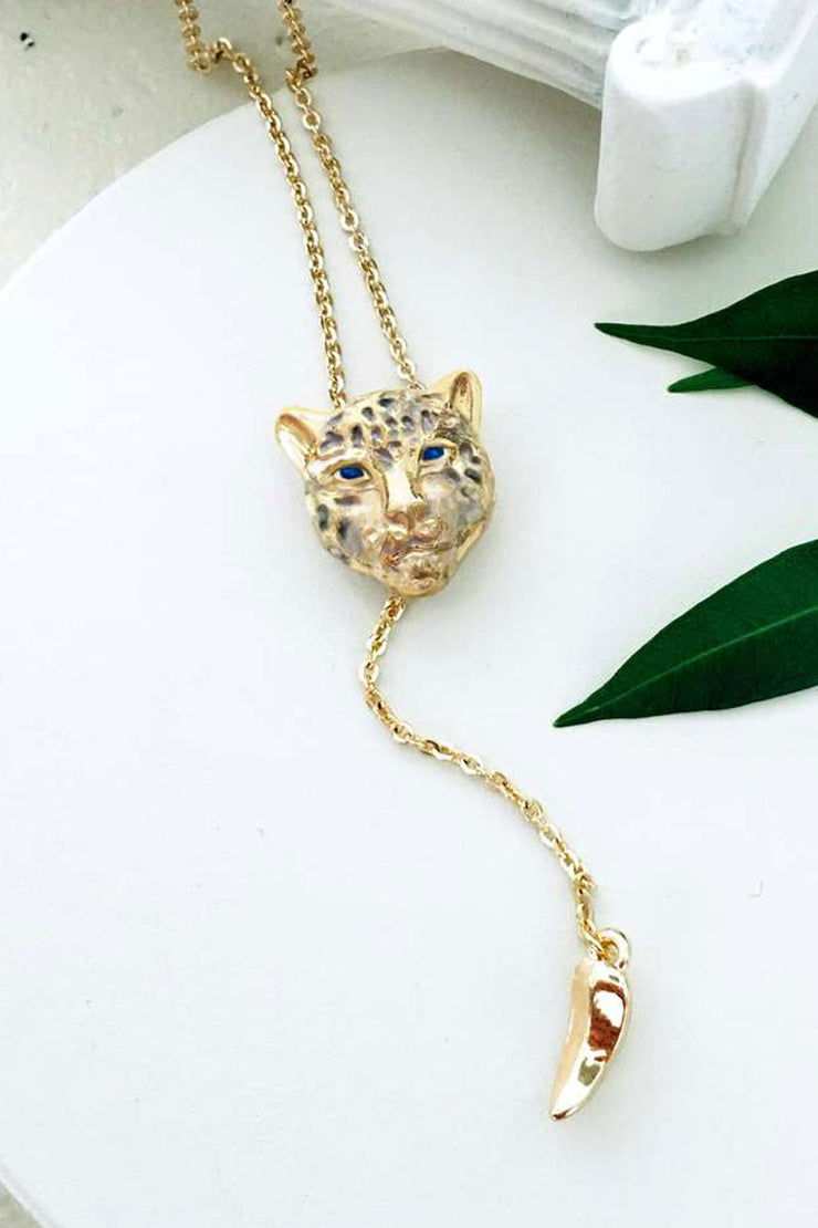 Snow Leopard Charm Necklace