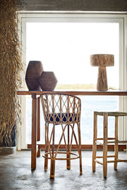 High Back Bamboo Bar Stool