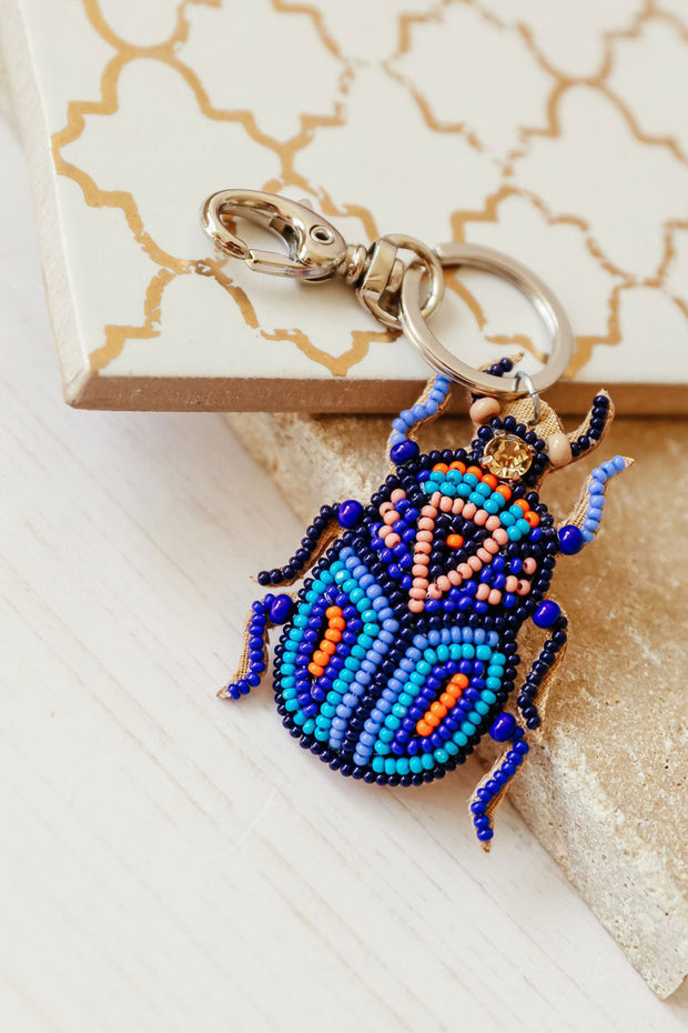 Beaded Beetle Keyring