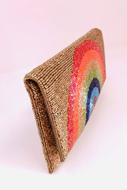 Beaded Clutch Bag Rainbow