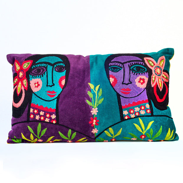 Gaugin Faces Velvet Cushion