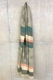 Blanket Stars & Stripe Scarf - Orange/Green