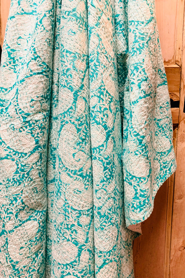 Paisley Throw in Turquoise