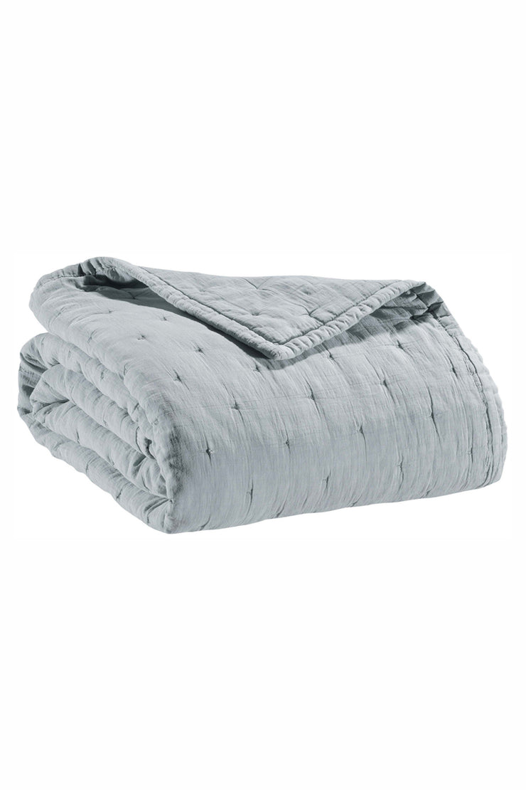 Vivaraise Light Grey Cotton Bed Throw