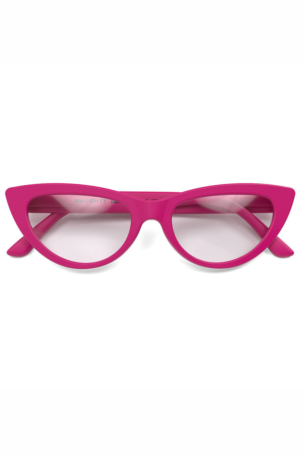 London Mole Naughty Reading Glasses in Pink