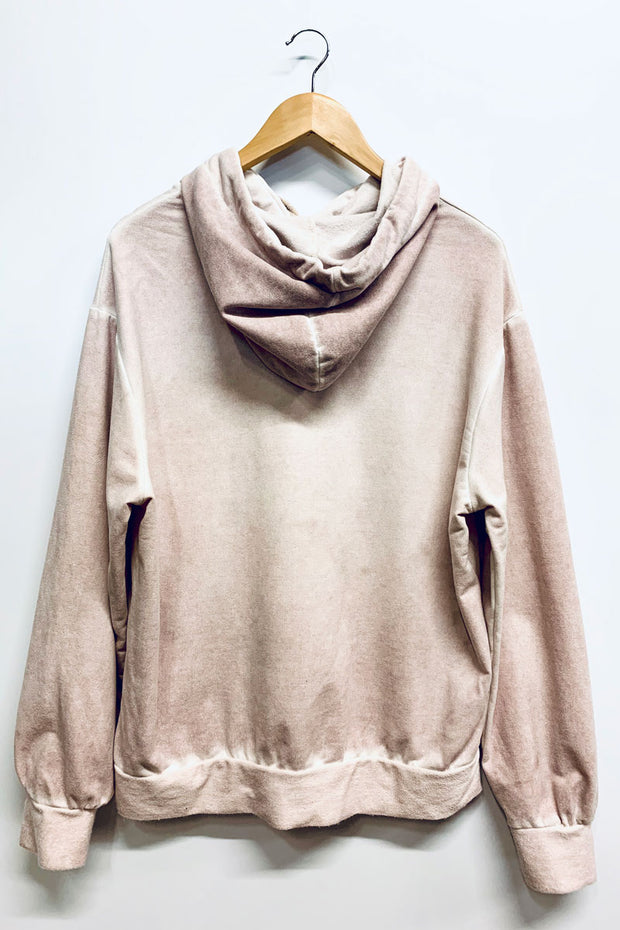 Pink Washed Hooded Top