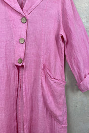 Louisa Pink Shirt Jacket