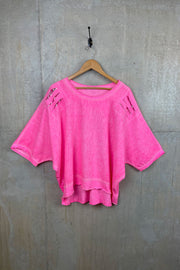 Ladies Pink Top With Sequins
