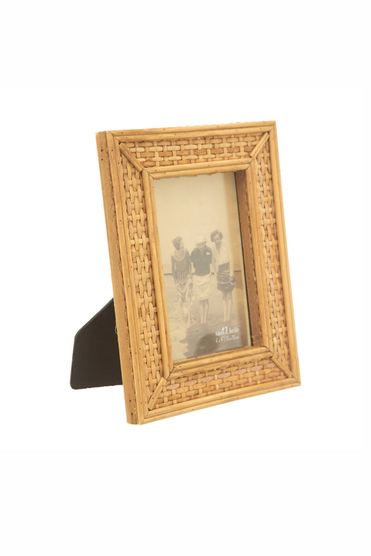 Rattan Standing Picture Frame