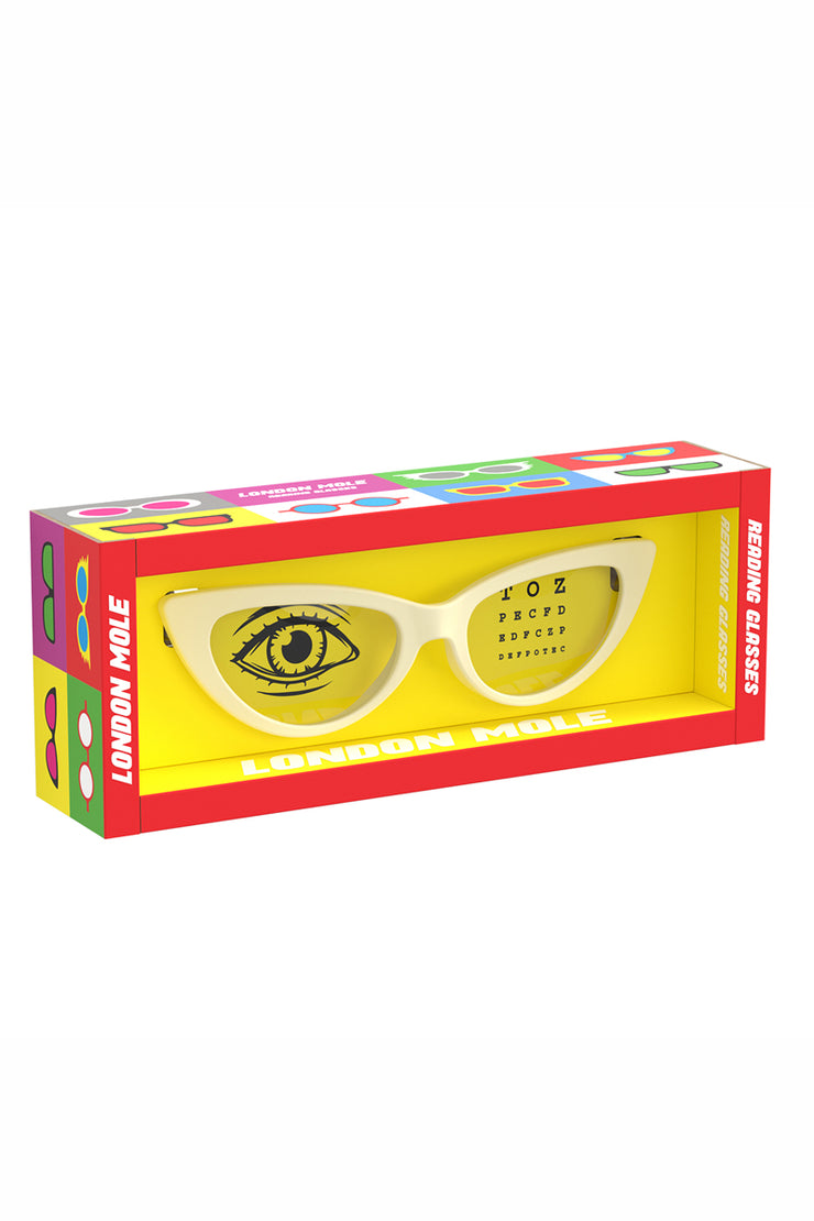 London Mole Cream Reading Glasses