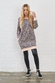 Leopard Print Long Sweat Top