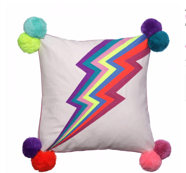 Bombay Duck Lightning Bolt Cushion