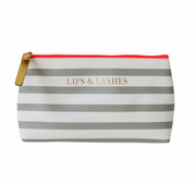 Lips and Lashes Make Up Pouch