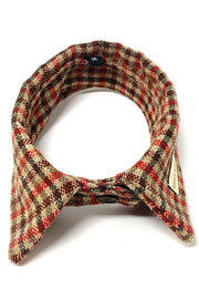 Country Check Dog Shirt Collar