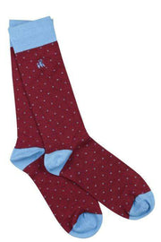 Mens Spotted Bamboo Socks