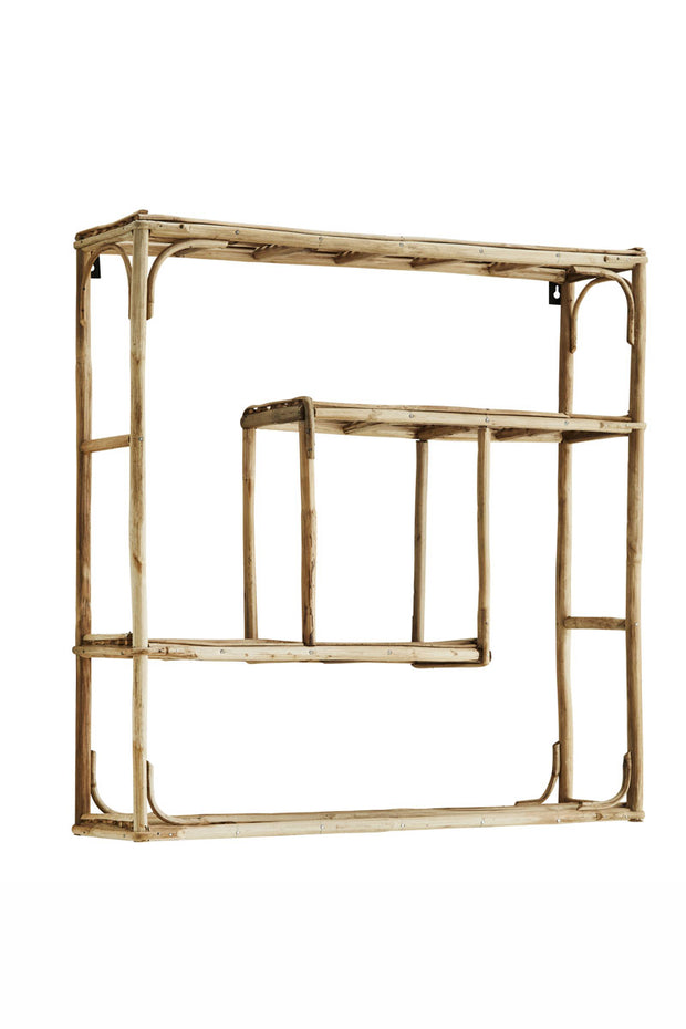 Madam Stoltz Quadratic Bamboo Shelf
