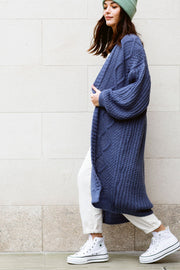 Maxi Denim Blue Cardigan