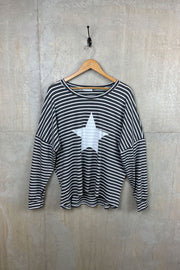 Striped Womens Top with Star