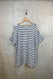 Julia Stripe Split Hem Top