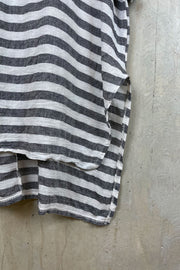 Split Hem Stripe Womens Top