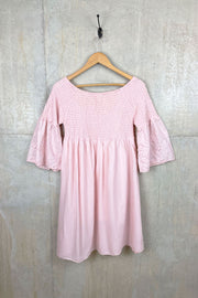 Ladies Pink Patterned Dress