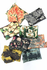 Vanilla Fly Velvet Pouches and Makeup Bags