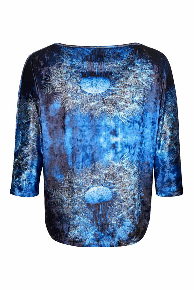 Blue Velvet Ladies Top