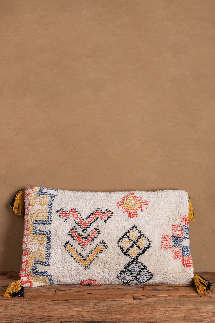 Warli Hand Tufted Cotton Cushion Cover 60x40