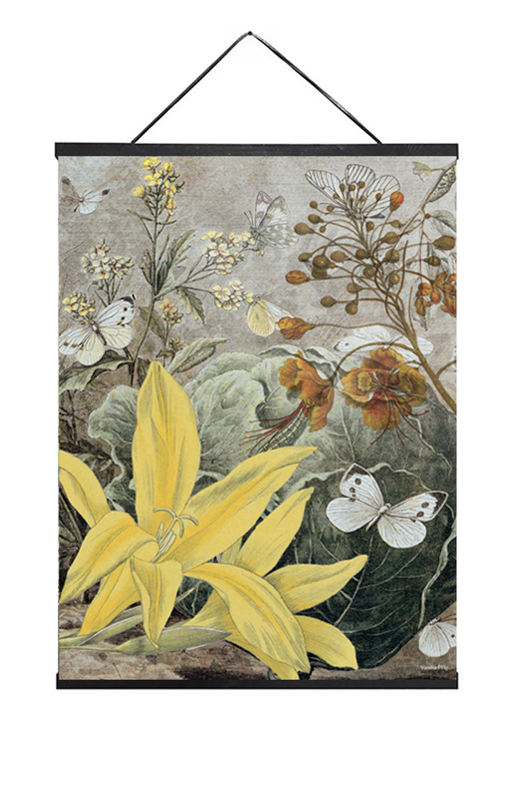 Vanilla Fly Yellow Lily Poster