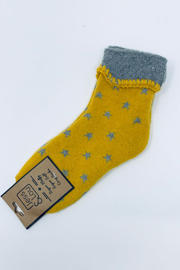 Yellow Star Socks