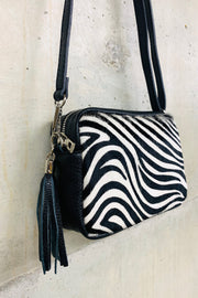 Leather Zebra Box Bag