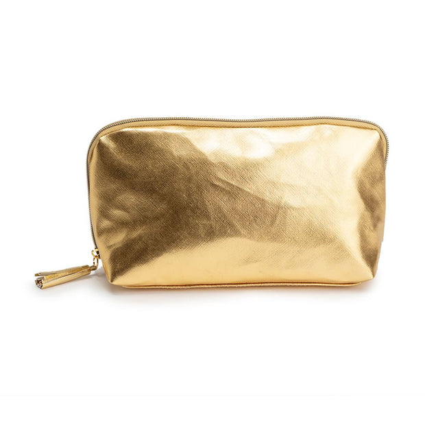 Metallic Gold Cosmetic Bag