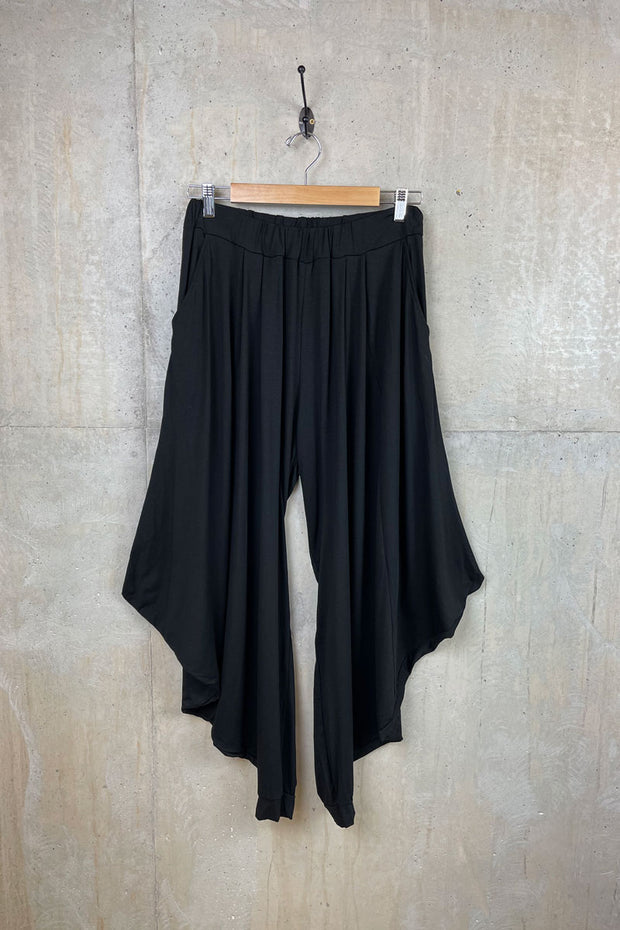 Womens Black Italian Harem Pants
