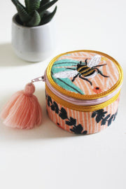 Eden Velvet Bee Trinket Box