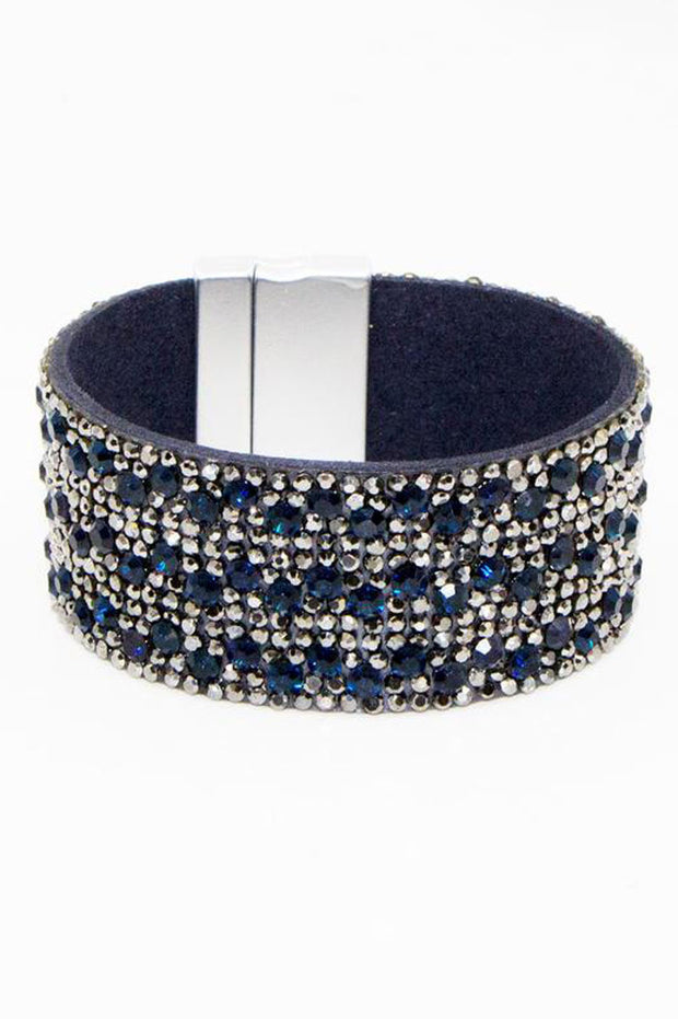 Blue Crystal Encrusted Cuff