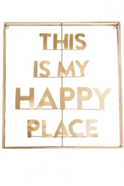 My Happy Place Brass Wall Art