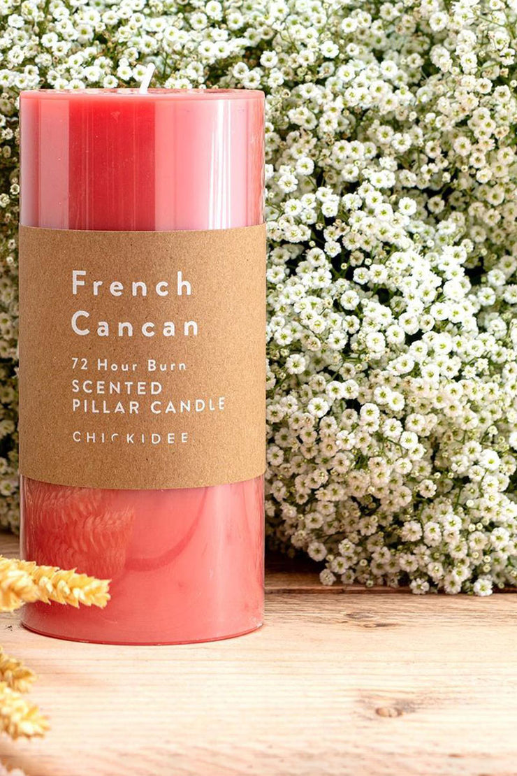 French Cancun Pillar Candles - Lge