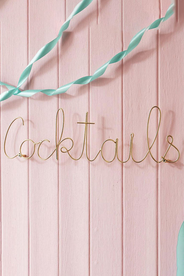 Cocktails Word Wall Art