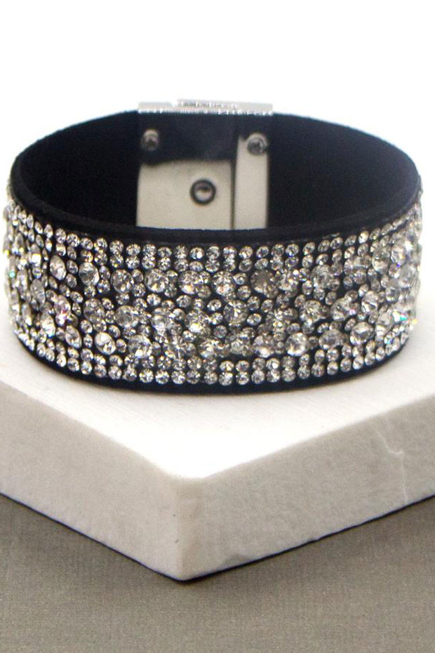 Clear Crystal Studded Bracelet
