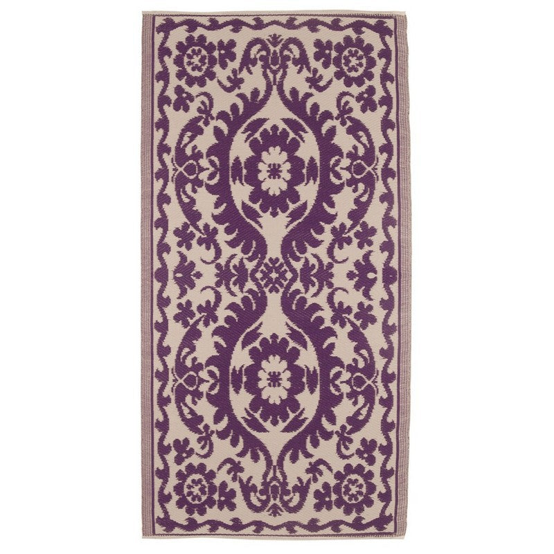 Wipeable Funky Rugs -Deep Violet