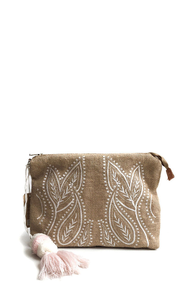 Jute Embroidered Bag