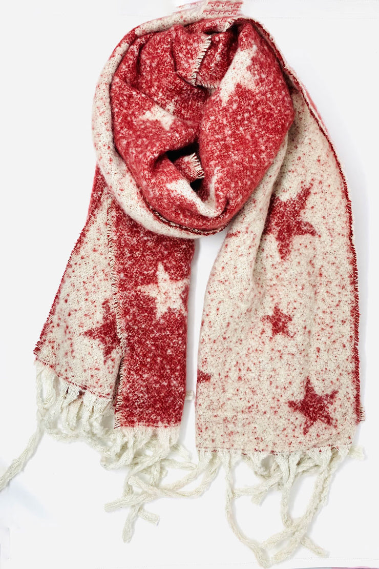 Blanket Star Red Scarf