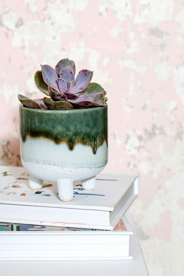 Sass and Belle Mojave Glaze Green Planter