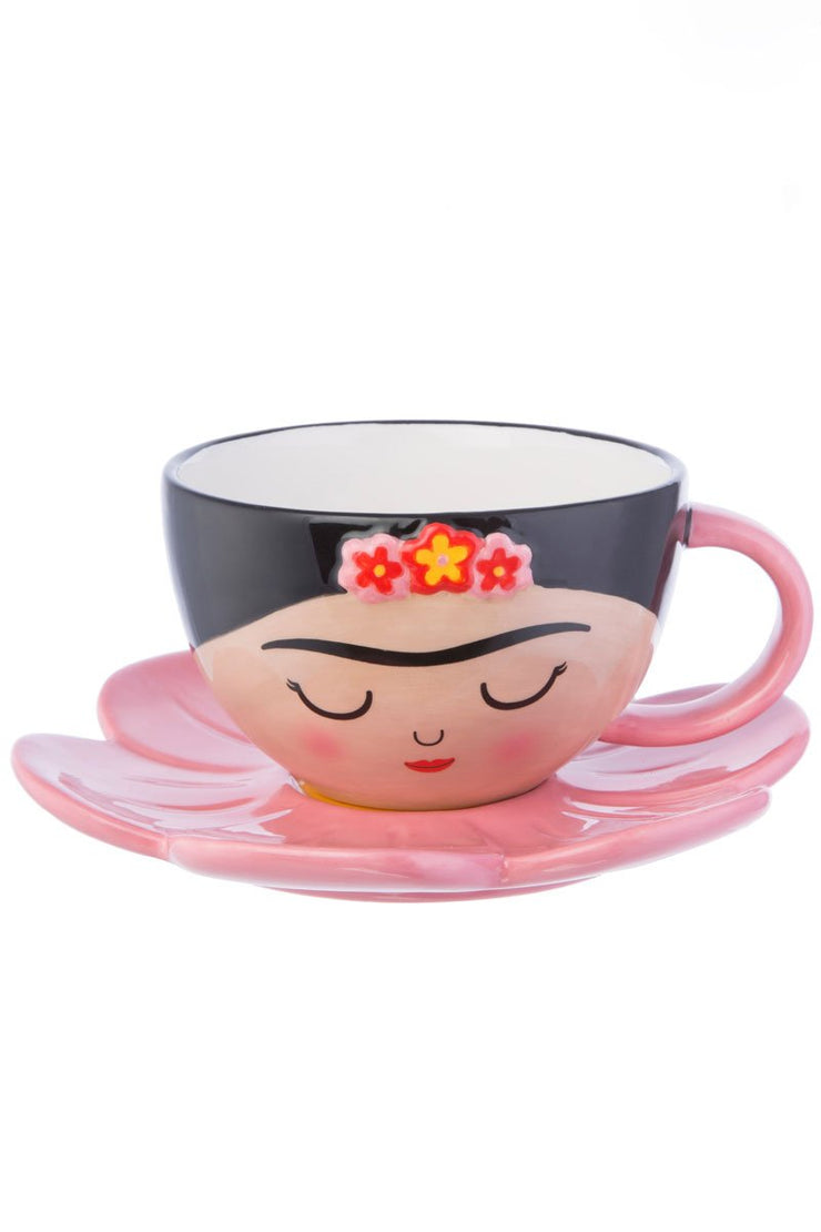 Sass And Belle Frida Cup and Flower Saucer Set