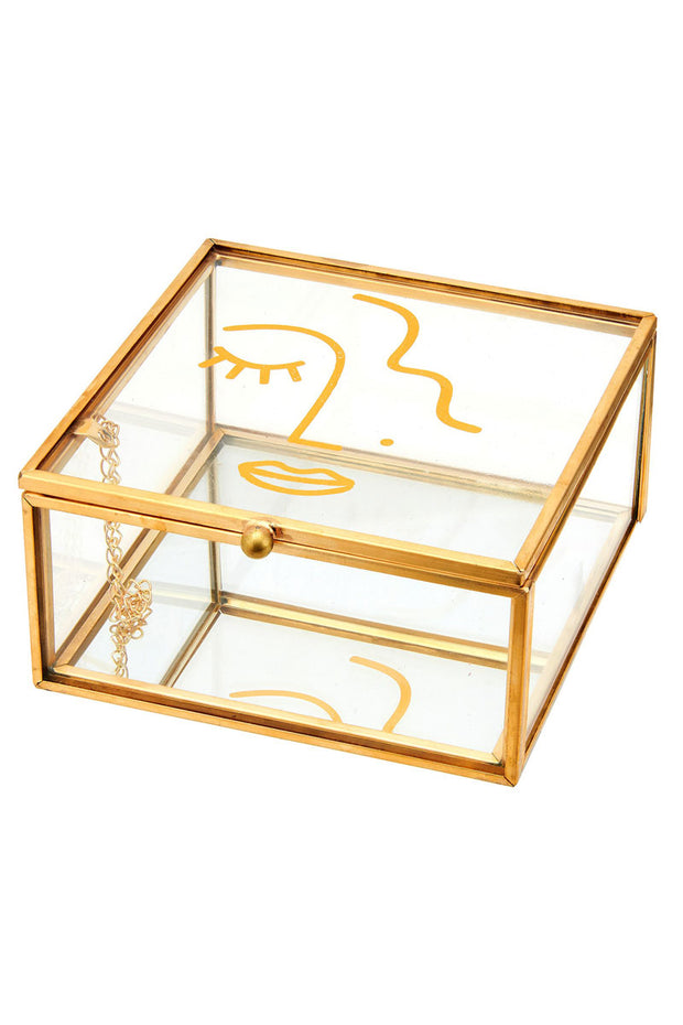 Sass and Belle Abstract Face Jewellery Box