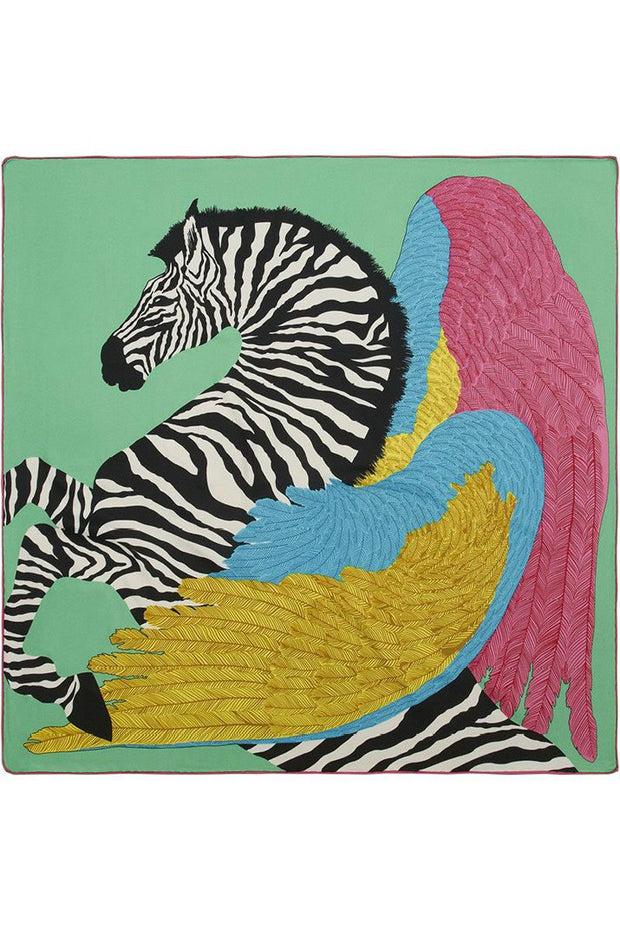 Rosie Fox Winged Zebra Scarf Green