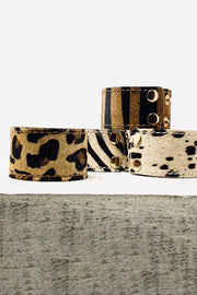 Pony Skin Leather Cuff - Cow