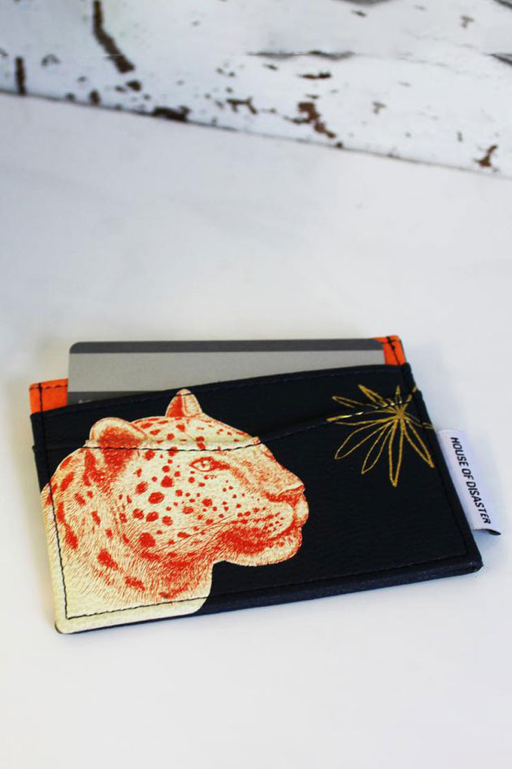 Disaster Designs Leopard Card Holder